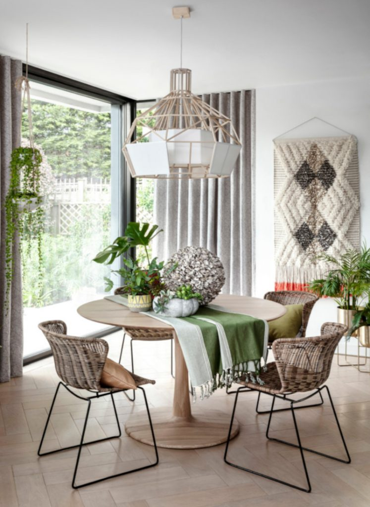 Hillary Blinds -Palm House Dining Trend